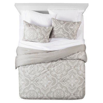 Tile Comforter and Sham Set (Queen) Dark Grey 3pc - The Industrial Shop™