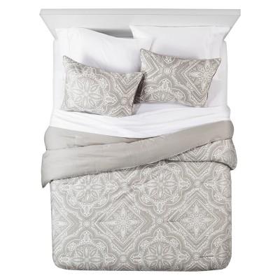 Tile Comforter and Sham Set - Queen - 3 pc - Dark Grey - The Industrial Shop™