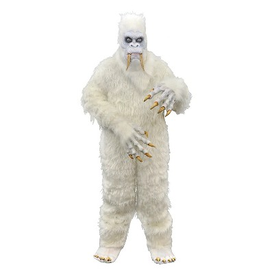 Men's Scary Yeti Costume White OSFM