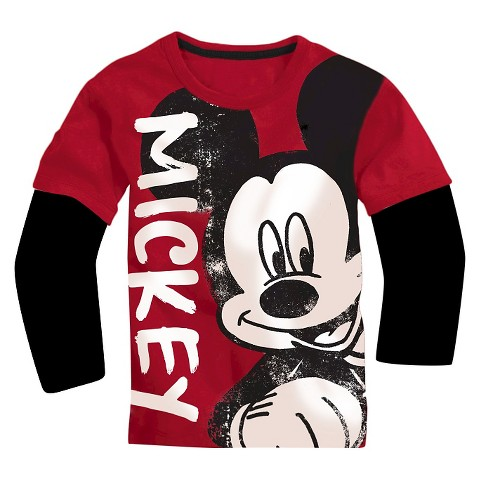 Toddler Boys 39 Mickey Mouse Longsleeve T Shirt Lo Target