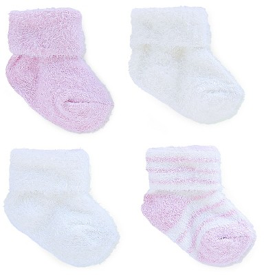 Just One You™ Made by Carter's® Baby Girls' 4-pack Socks - White/Pink -  Size 0-3M