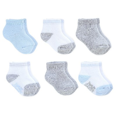 Just One You™ Made by Carter's® Baby Boys' 6-Pack Ankle Sock - Gray/Blue/White