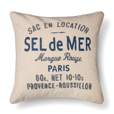 "Sel de Mer Pillow (18""x18"") Blue - The Industrial Shop™"