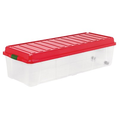 IRIS Tree Storage Box - Clear/Red (164 Qt)