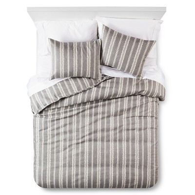 Edison Duvet and Sham Set - Queen - 3 pc - Grey - The Industrial Shop™