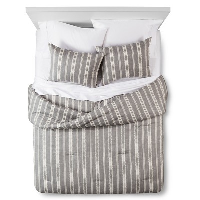 Edison Comforter and Sham Set (King) Grey 3pc - The Industrial Shop™