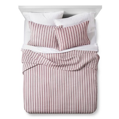 Urban Stripe Quilt and Sham Set - King - 3 pc - Red - The Industrial Shop™