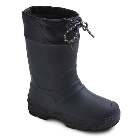 boys 100 water proof winter boots navy target