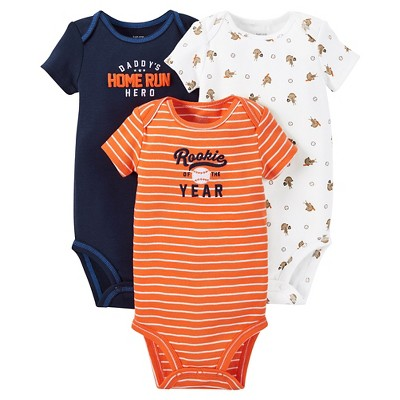 Just One You™ Made by Carter's®  Baby Boys' 3-Piece Bodysuit Set - Blue 3 M
