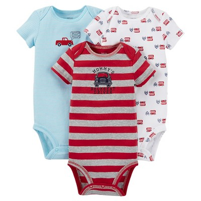 Just One You™ Made by Carter's®  Baby Boys' 3-Piece Bodysuit Set - Red NB