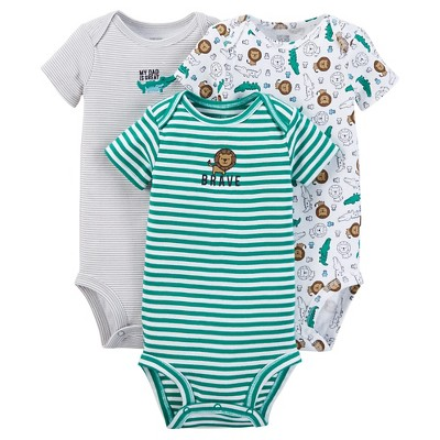 Just One You™ Made by Carter's®  Baby Boys' 3-Piece Bodysuit Set - Green 3 M