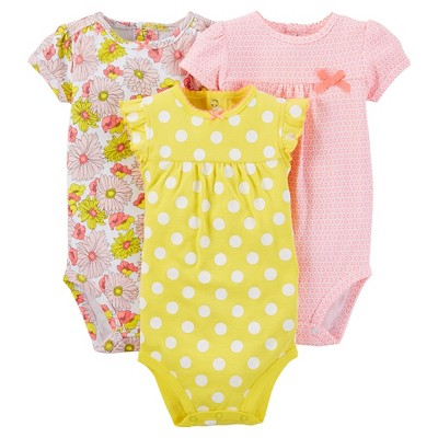 Just One You™ Made by Carter's®  Baby Girls' 3-Pack Bodysuit - Yellow NB
