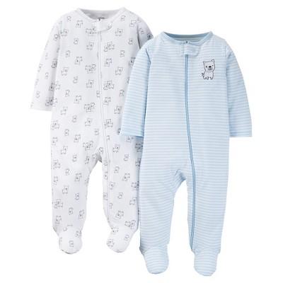 Just One You™ Made by Carter's®  Baby Boys' Doggy 2-Pack Footed Sleeper - Blue 3 M
