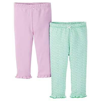 Just One You™ Made by Carter's® Baby Girls' 2-Pack Legging Pant - Purple NB