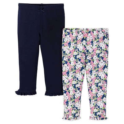 Just One You™ Made by Carter's® Baby Girls' 2-Pack Legging Pant - Navy NB