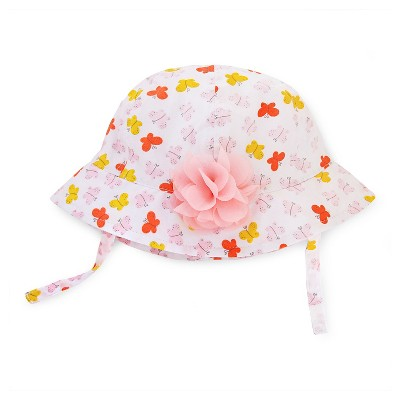 Bucket Hats Just One You White Pink Yellow