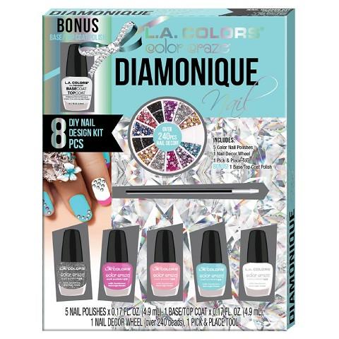 La Colors Diamonique Nail Design Gift Set 102floz 8pc Shopswell