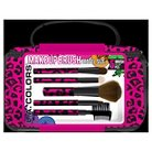 LA Colors Makeup Travel Bag with 5pc Brush Set