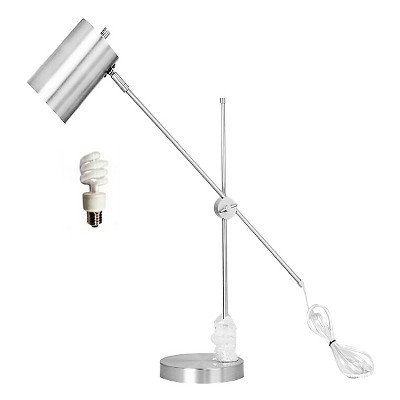 Threshold Silver Task Lamp w/ Cylinder Shade - CA Compliant