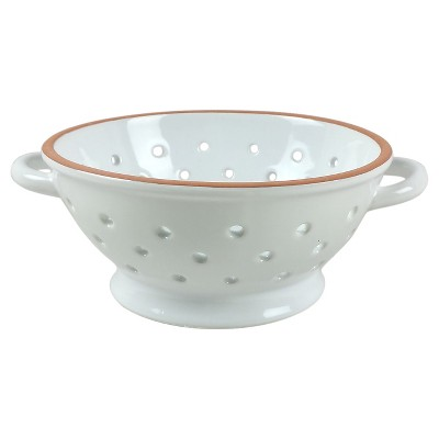 Stoneware Round Colander  White - Threshold™