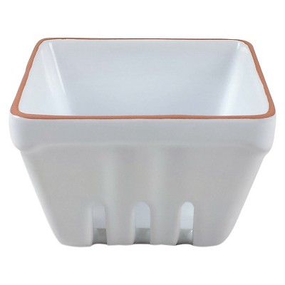 Small Stoneware Square Berry Basket White - Threshold™