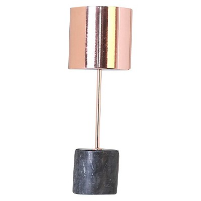 Threshold™ Copper Stick Lamp with Cylinder Marble Base