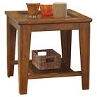 Signature Design by Ashley Ristler Square End Table - Rustic Brown