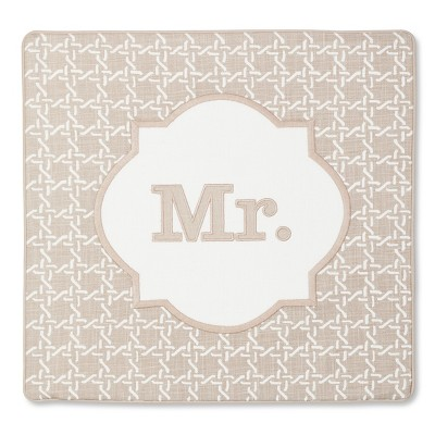 Monogram Mr Pillow Cover – Threshold™