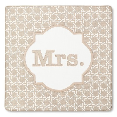 Monogram Mrs Pillow Cover – Threshold™