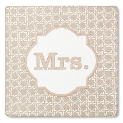 Threshold Monogram Mrs Pillow Cover
