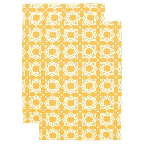 designer print kitchen towel set of 2