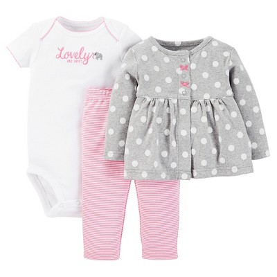 Just One You™ Made by Carter's® Baby Girls' 3-Piece Pant Set - Pink 9 M