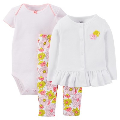 Just One You™ Made by Carter's® Baby Girls' 3-Piece Pant Set - Pink NB