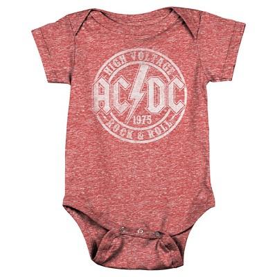 Newborn Boys' AC/DC Bodysuit - Red 3-6 M