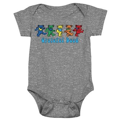 Newborn Boys' Grateful Dead Bodysuit - Charcoal Heather 3-6 M
