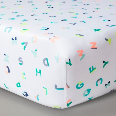 Oh Joy!® Woven Fitted Crib Sheet - ABC