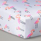 Oh Joy!® Woven Fitted Crib Sheet - Flamingo