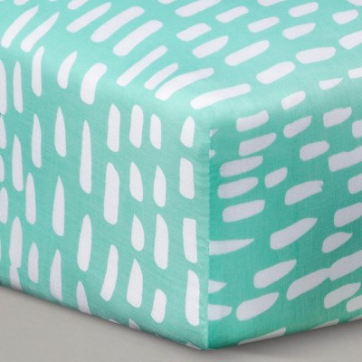 Oh Joy!® Woven Fitted Crib Sheet - Mint Dash