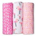 Oh Joy!® 3pk Muslin Swaddle Blanket - Flamingo