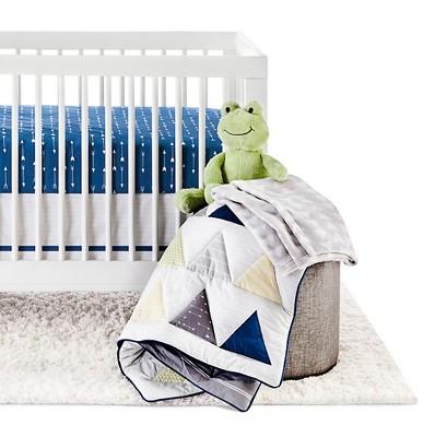 Circo™ 4pc Crib Bedding Set - Blue Triangle