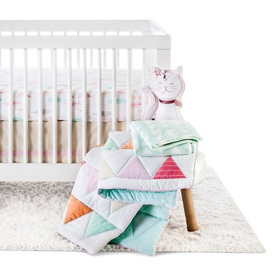 Circo™ 4pc Crib Bedding Set - Pink Triangle