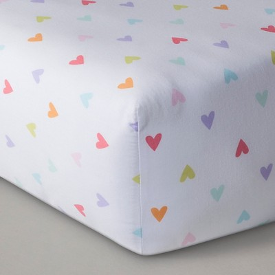 Circo™ Woven Fitted Crib Sheet - Rainbow Hearts
