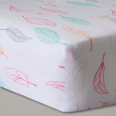 Circo™ Woven Fitted Crib Sheet - Feathers
