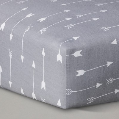Circo™ Woven Fitted Crib Sheet - Grey Arrows