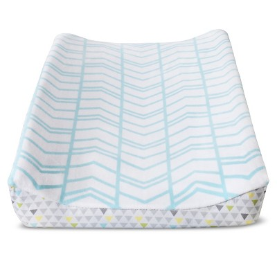 Circo™ Changing Pad Cover - Aqua Herringbone