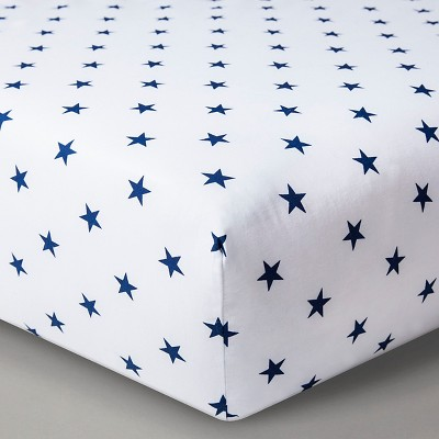 Circo™ Woven Fitted Crib Sheet - Navy Stars