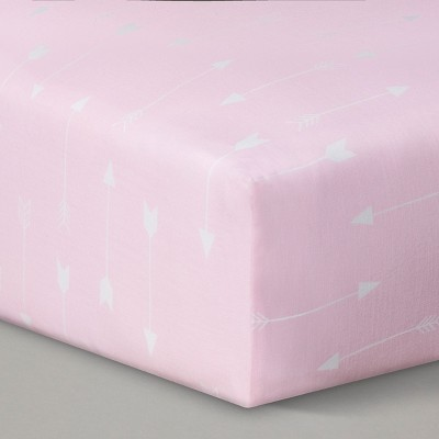 Circo™ Woven Fitted Crib Sheet - Pink Arrow