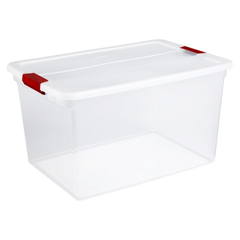 Sterilite 66 Quart Clearview Latch Box Set Of 6 Target