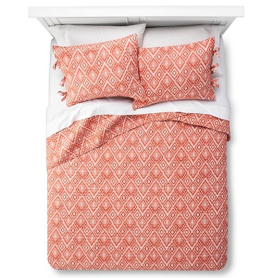 Maroq Quilt and Sham Set (King) Orange 3pc - Mudhut™