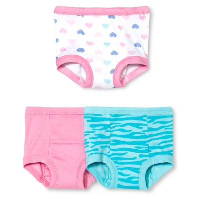 Gerber® Toddler Girls' 3-Pack Training Pant - Pink 2T
